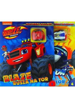 Blaze i Megamaszyny. Zestaw 2 książek z zabawkami