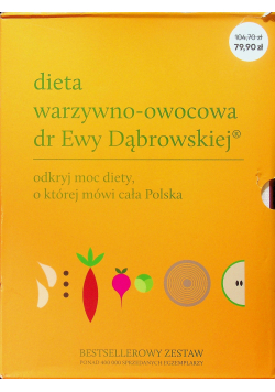 Dieta warzywno owocowa dr Ewy Dąbrowskiej 3 tomy