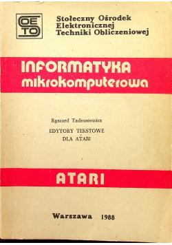 Informatyka mikrokomputerowa Atari Edytory tekstowe dla Atri