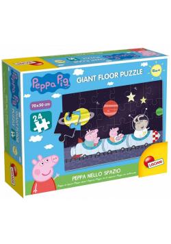 Puzzle 24 Gigant - Świnka Peppa w kosmosie