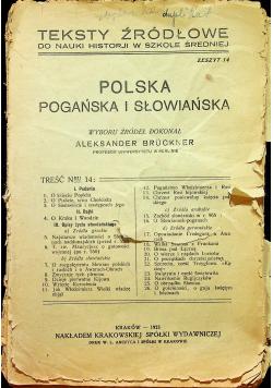Polska - pogańska i słowiańska 1923 r.