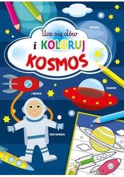 Ucz się słów i koloruj. Kosmos