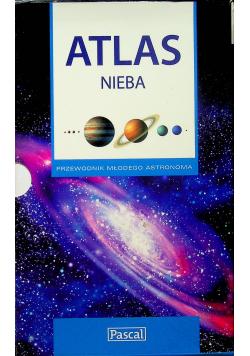 Atlas nieba Przewodnik młodego astronoma plus mapa