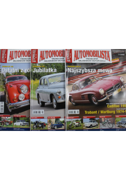 Automobilista Miesięcznik miłośników motoryzacji 3 numery