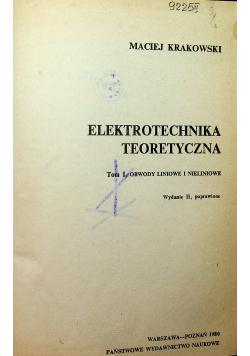 Elektrotechnika teoretyczna tom I