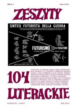Zeszyty literackie 104 4/2008
