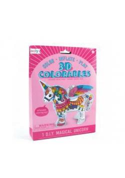 Kolorowanka 3D Jednorożec