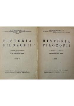 Historja Filozofji Tom I i II 1929 r.