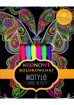 Neonowa kolorowanka Motyle i inne wzory