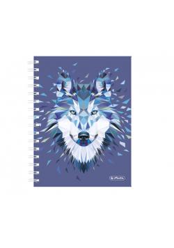 Brulion na spirali A5/100K kratka Wild Wolf (2szt)
