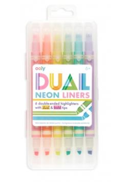 Flamastry neonowe Dual Liner 6 kolorów
