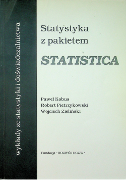 Statystyka z pakietem Statistica