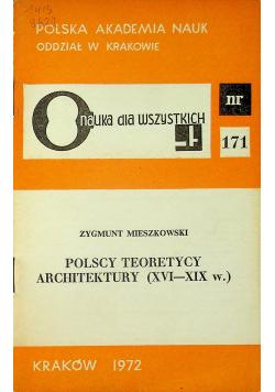Polscy teoretycy architektury XVI XIX w
