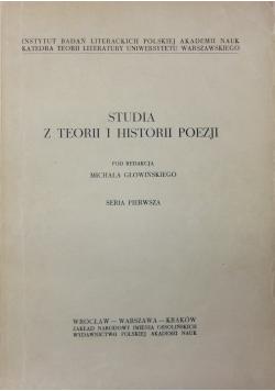 Studia z teorii i historii poezji seria 1