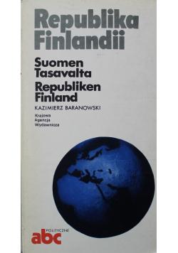 Republika Finlandii  Suomen Tasavalta Republiken Finland