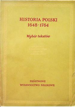 Historia Polski 1648 1764 wybór tekstów