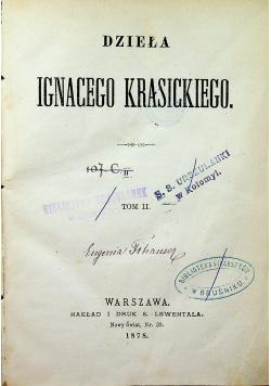 Dzieła Ignacego Krasickiego Tom II 1878r