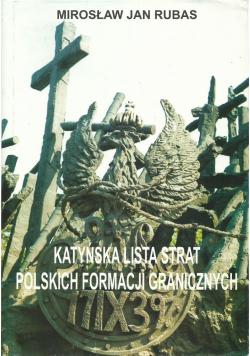 Katyńska lista strat polskich formacji granicznych