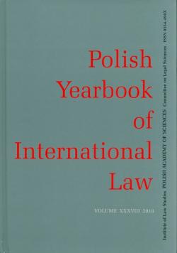 Polish Yearbook of International Law Volume XXXVIII 2018