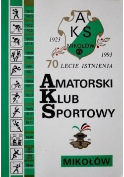 Amatorski Klub Sportowy 1923 - 1993