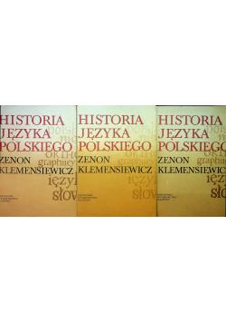 Historia języka polskiego 3 tomy