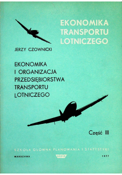 Ekonomika i organizacja przedsiębiorstwa transportu lotniczego
