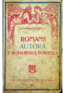 Romans autora z bohaterką powieści 1924 r.