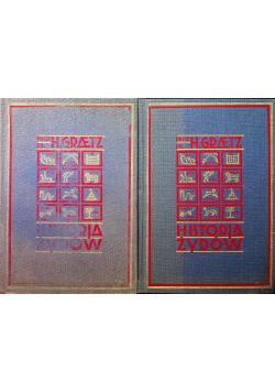 Historia żydów 2 części Reprint z 1929 r