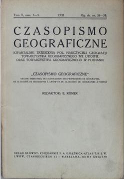 Czasopismo geograficzne Tom X 1932r