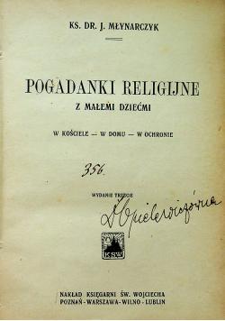 Pogadanki religijne z małemi dziećmi 1923 r.