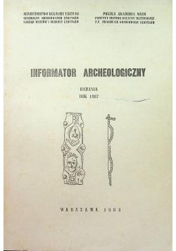 Informator Archeologiczny badania 1987