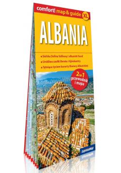 Albania laminowany map&guide (2w1: przewodnik i mapa)
