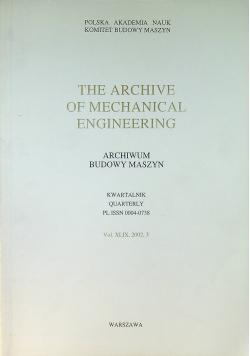 Archiwum budowy maszyn Kwartalnik Vol XLIX 3