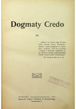 Dogmaty Credo III 1910 r