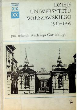 Dzieje Uniwersytetu Warszawskiego 1915 - 1939