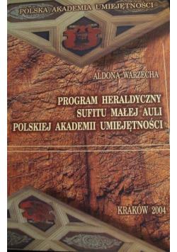 Program heraldyczny sufitu małej auli polskiej akademii umiejętności