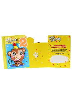 Karnet B6 DK-789 Urodziny 2 małpka