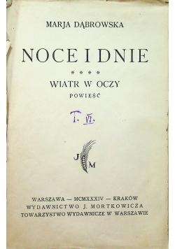 Noce i dnie tom IV wiatr w oczy 1934 r.