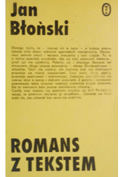 Romans z tekstem