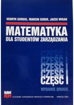 Matematyka dla studentów zarządzania Cz 1