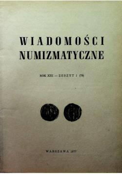 Wiadomości numizmatyczne 4 zeszyty