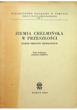 Ziemia Chełmińska w przeszłości