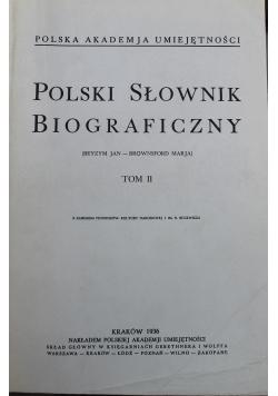 Polski Słownik Biograficzny Tom II reprint z 1936 r.