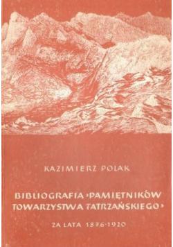 Bibliografia pamiętników Towarzystwa Tatrzańskiego za lata 1876 1920