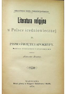 Literatura religijna w Polsce średniowiecznej II 1903 r.