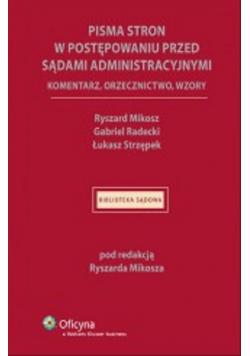 Pisma stron w postępowaniu przed sądami administracyjnymi