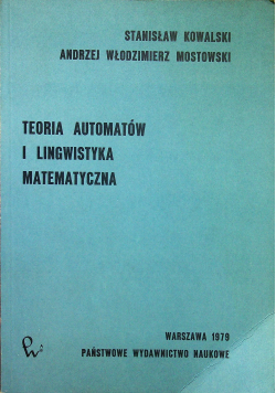 Teoria automatów i lingwistyka matematyczna
