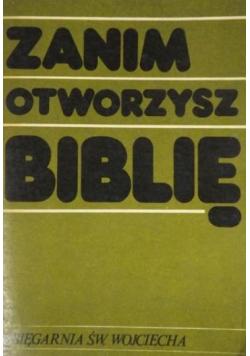 Zanim otworzysz Biblię