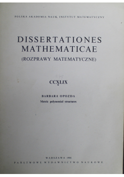 Dissertationes Mathematicae Rozprawy Matematyczne