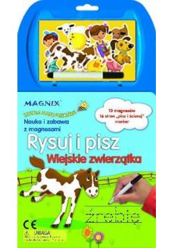 Rysuj i pisz. Wiejskie zwierzątka. MAGNIX Szkoła M